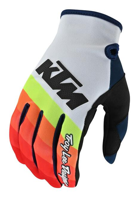 2019 Troy Lee Designs TLD SE Pro KTM Mirage Men's Adult MX Gloves White/Red