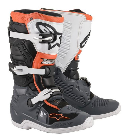 Alpinestars Motocross Boots Tech 7S Black Grey White Orange Fluo