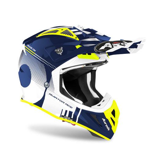 Airoh Motocross Helmet Aviator Ace Nemesi Blue Gloss