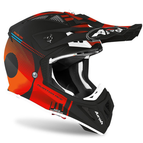 Airoh Motocross Helmet Aviator Ace Nemesi Orange Matt