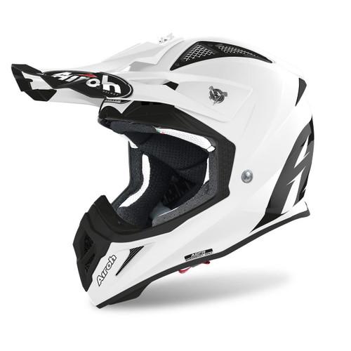 Airoh Motocross Helmet Aviator Ace White Gloss