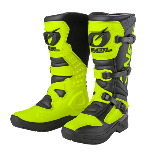 O'Neal Motocross Boots RSX Black/Neon Yellow