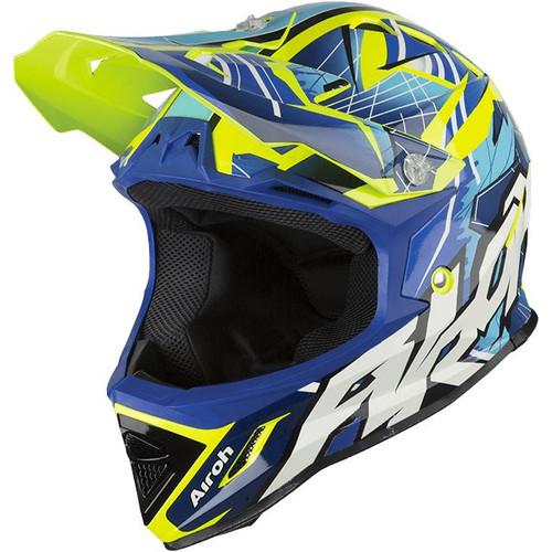 Airoh Archer Junior MX Helmet Bump Blue
