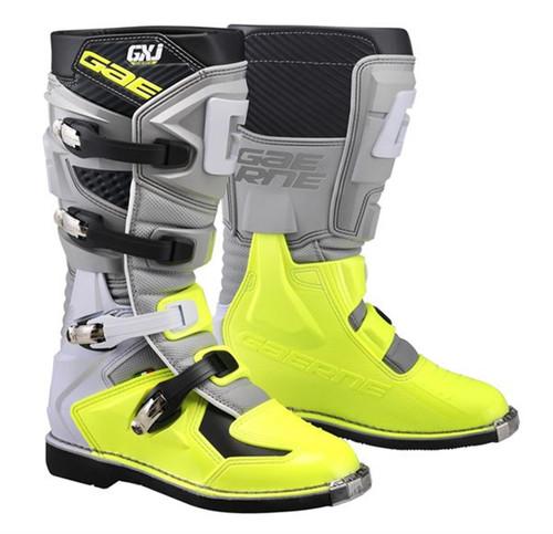Gaerne Motocross Boots GX-J Kids Grey Yellow Flo