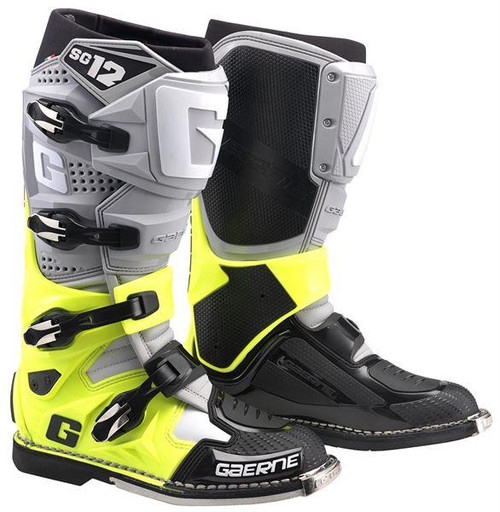 Gaerne Motocross Boots SG12 Grey/Yellow/Black