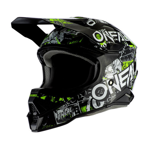 2020 O'Neal 3SRS Attack 2.0 MX Helmet Black/Neon Yellow
