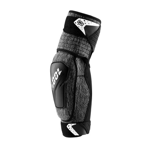 100% Elbow Guard Fortis Adult Grey Heather/Black