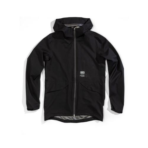 100% Parka Jacket Hydromatic Waterproof Black