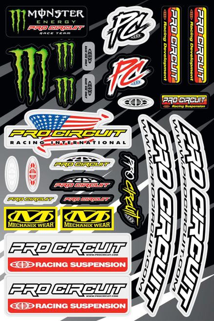 Pro Circuit 2015 P/C Decal/Sticker Sheet