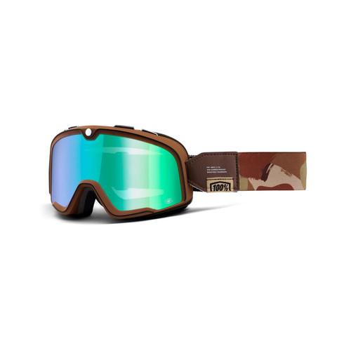 100% Barstow Goggles Pendleton / Flash Green Lens