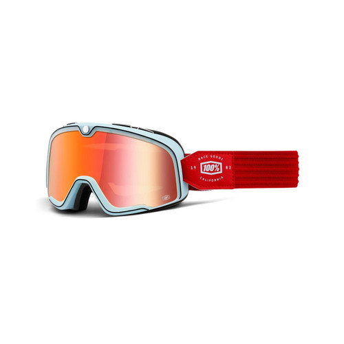 100% Barstow Goggles Carlyle / True Red Lens