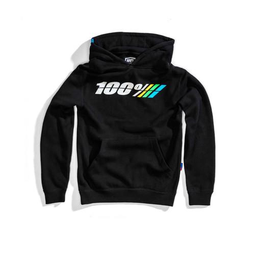 100% Youth Hoodie Pullover Motorrad Black