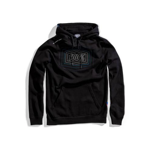 100% Adult Pullover Hoodie Echo Black