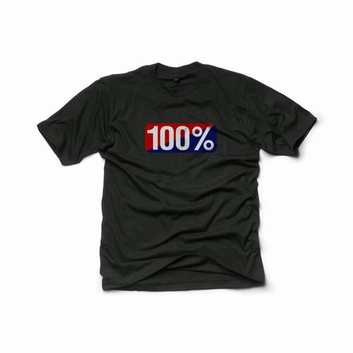 100% Men's T-Shirt Classic Old School Black