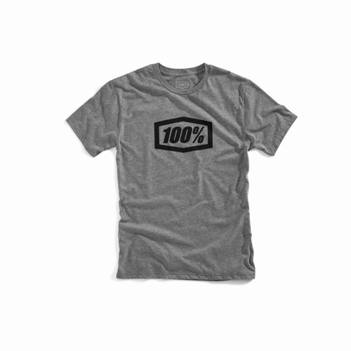 100% Men's T-Shirt Essential Gunmetal Heather