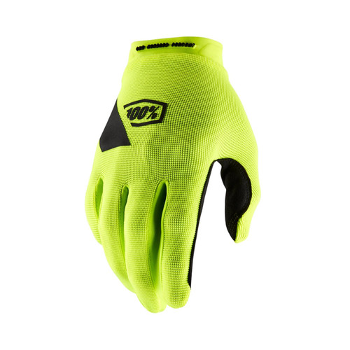 100% Ridecamp Motocross Gloves Adult Fluo Yellow
