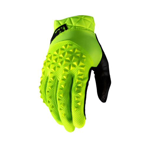 100% Geomatic Adult Gloves Fluo Yellow