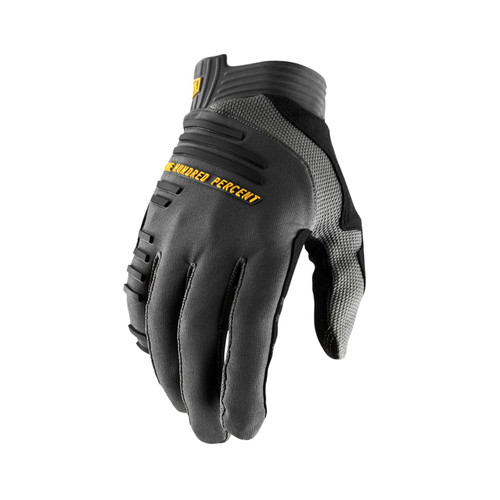 100% R-Core Adult Glove Charcoal