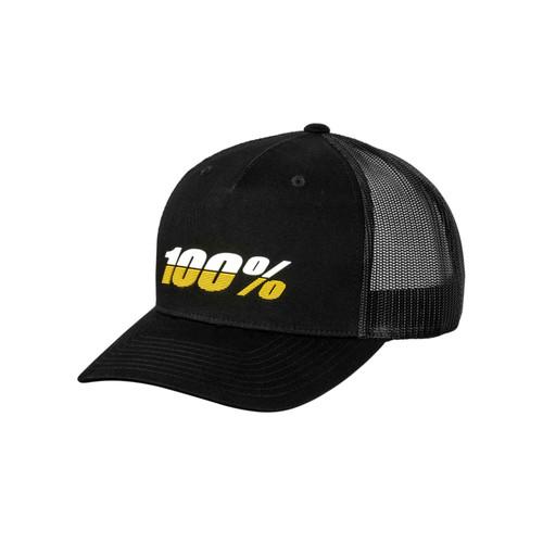 100% League X-Fit Snapback Hat Black