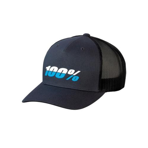 100% League X-Fit Snapback Hat Charcoal