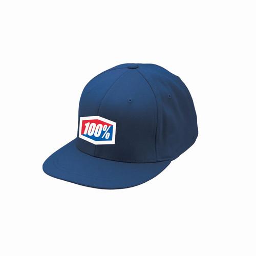 100% Flexfit Hat  J-Fit Navy