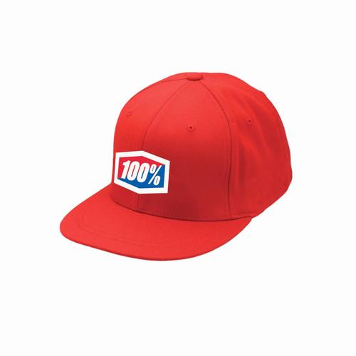 100% Flexfit Hat J-Fit Red