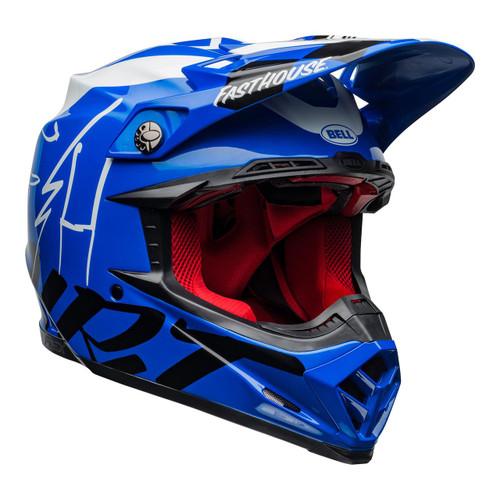 Bell Moto-9 Flex Motocross Helmet Fasthouse Day In The Dirt Blue/White