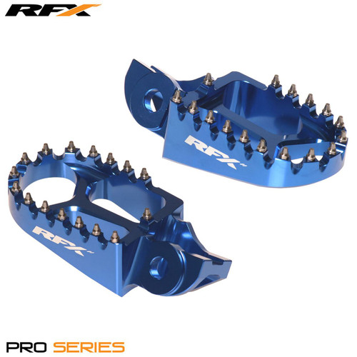 RFX Pro Footrests (Blue) Husqvarna TC125 / FC 250/350/450 16>On (Not TE/TE)