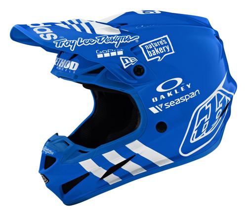 TLD Motocross Helmet SE4 Composite 20 Adidas Team Blue Limted Edition