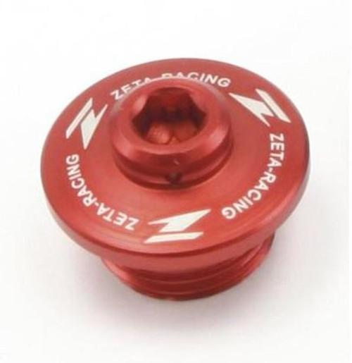 DRC Oil filler plug Suzuki red