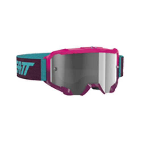 LEATT GOGGLE VELOCITY 4.5 NEON PINK - CLEAR LENS 8020001135