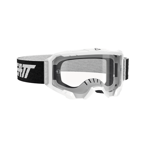 LEATT GOGGLE VELOCITY 4.5 WHITE - CLEAR LENS 8020001150