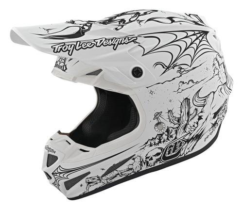 TLD MX Helmet SE4 Composite 20 LE Stranded White
