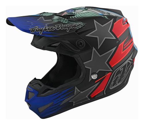 TLD SE4 Composite MX Helmet LE Liberty Black
