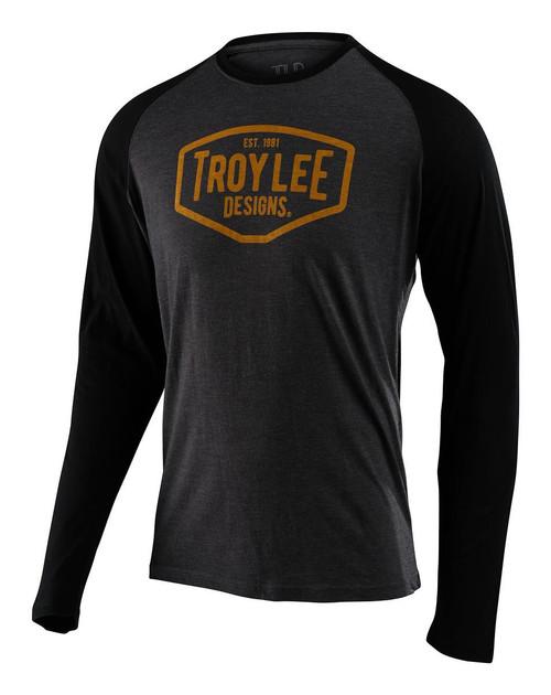 TLD Men's T-Shirt Long Sleeved Motor Oil Charcoal/Black