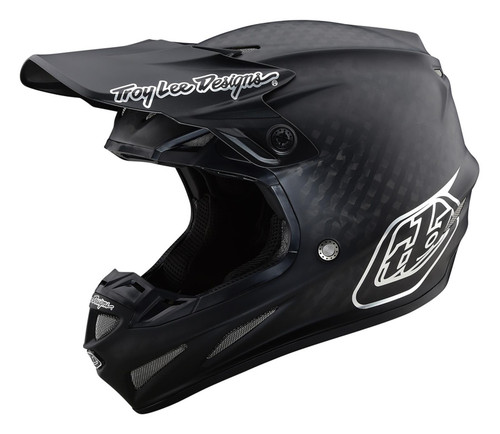 TLD MX Helmet 2020 SE4 Carbon Midnight Black/Chrome
