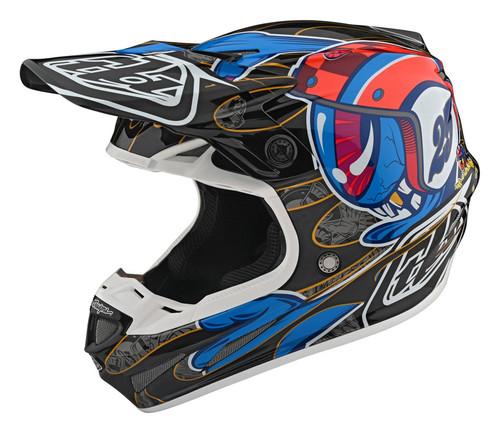 TLD MX Helmet 2020 SE4 Carbon Eyeball Black/Red