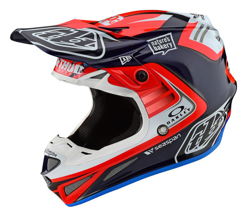 TLD MX Helmet 2020 SE4 Carbon Flash Team Blue/Red