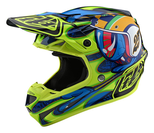 TLD MX Helmet 2020 SE4 Composite Eyeball Navy/Yellow