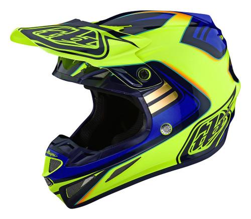 TLD MX Helmet 2020 SE4 Composite Flash Yellow/Blue