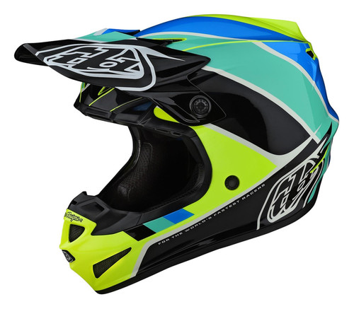 TLD MX Helmet 2020 SE4 Polyacrylite Beta Yellow/Black