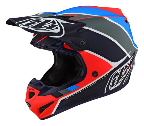 TLD MX Helmet 2020 SE4 Polyacrylite Beta Orange/Navy