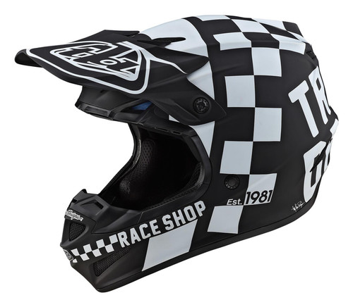 TLD MX Helmet 2020 SE4 Polyacrylite Checker Black/White