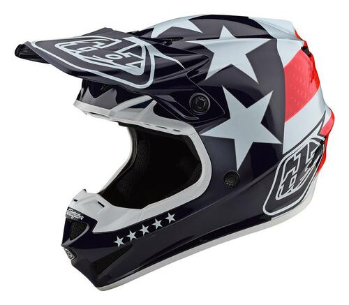 TLD MX Helmet 2020 SE4 Polyacrylite Freedom Red/White