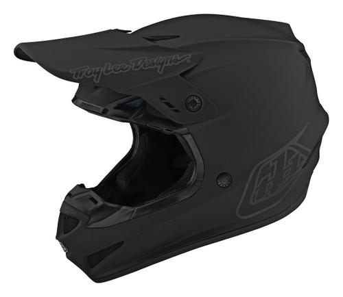 TLD MX Helmet 2020 SE4 Polyacrylite Mono Black