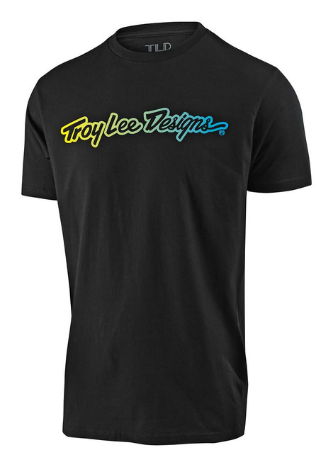 TLD Youth T-Shirt Signature Black Casual Troy Lee Designs Short Sleeved
