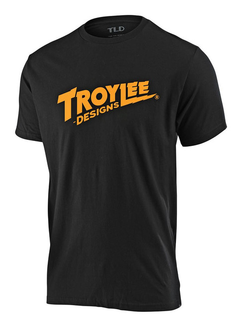 TLD Youth T-Shirt Voltage Black Troy Lee Design Short Sleeved Casual