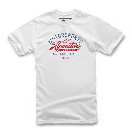Alpinestars Men's T-Shirt Motor White Short Sleeved Casual Adult