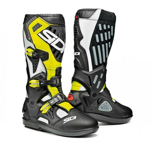 SIDI ATOJO SRS WHITE/BLACK/YELLOW FLO BOOTS