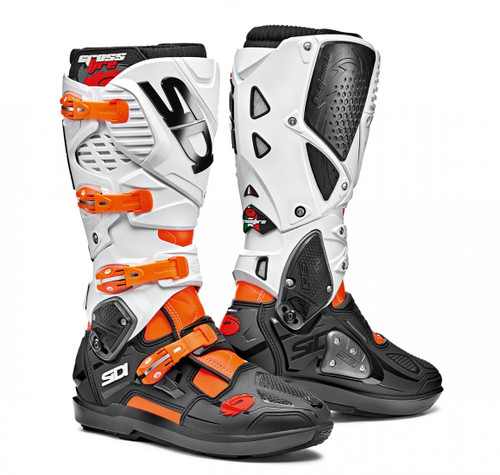 SIDI CROSSFIRE 3 SRS ORANGE FLO/BLK/WHITE BOOTS CE